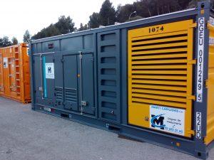 Alquiler generador diesel silencioso
