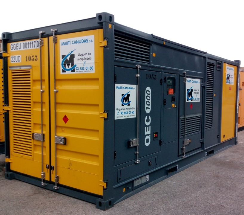 Generadores diésel silenciosos con contenedor