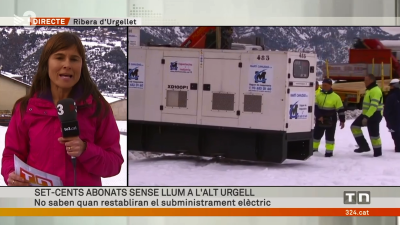 Després de la nevada, arriben els generadors