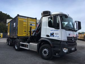 alquiler transporte generador diesel silencioso