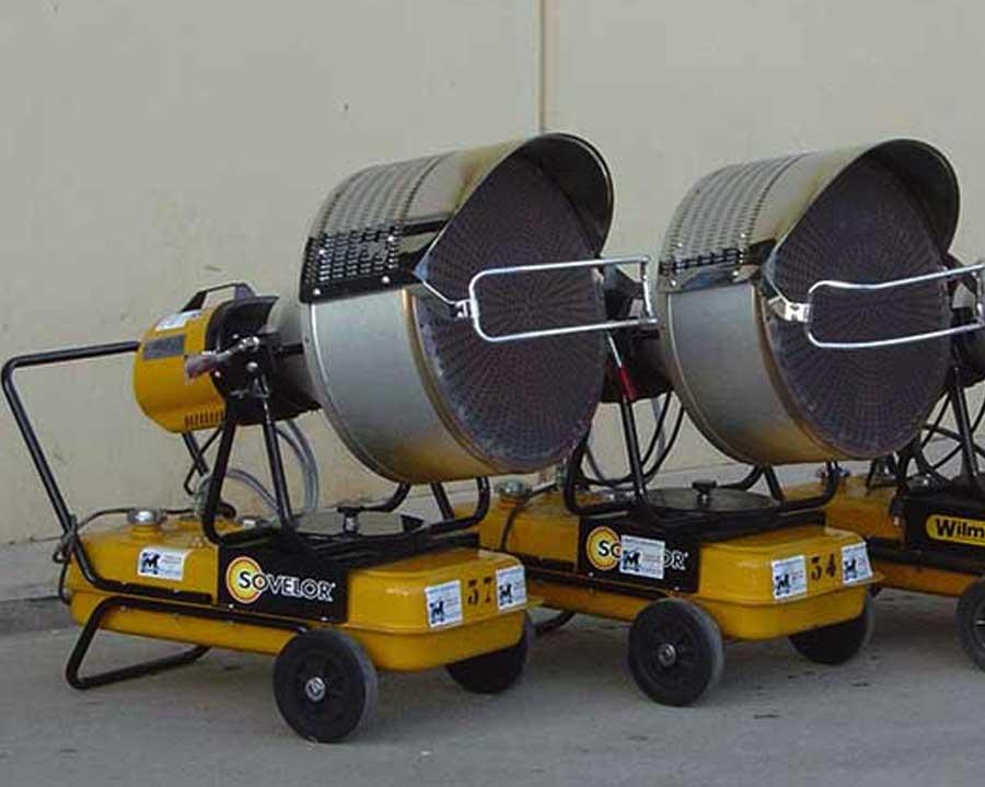 Calefactores diésel infrarrojos