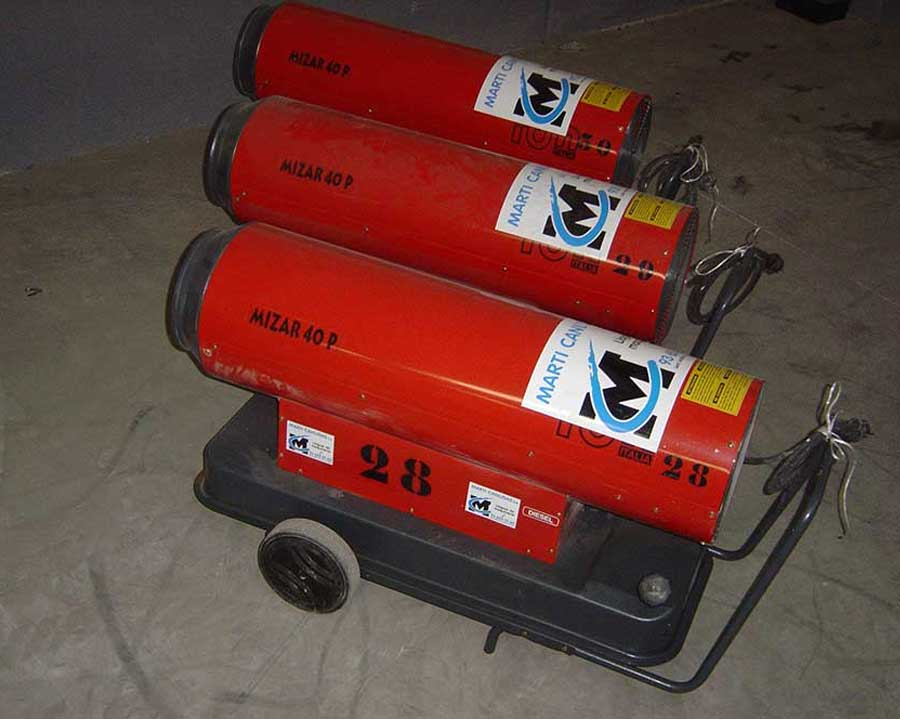 Calefactores diésel cañón