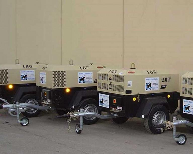 Compresores diesel obra