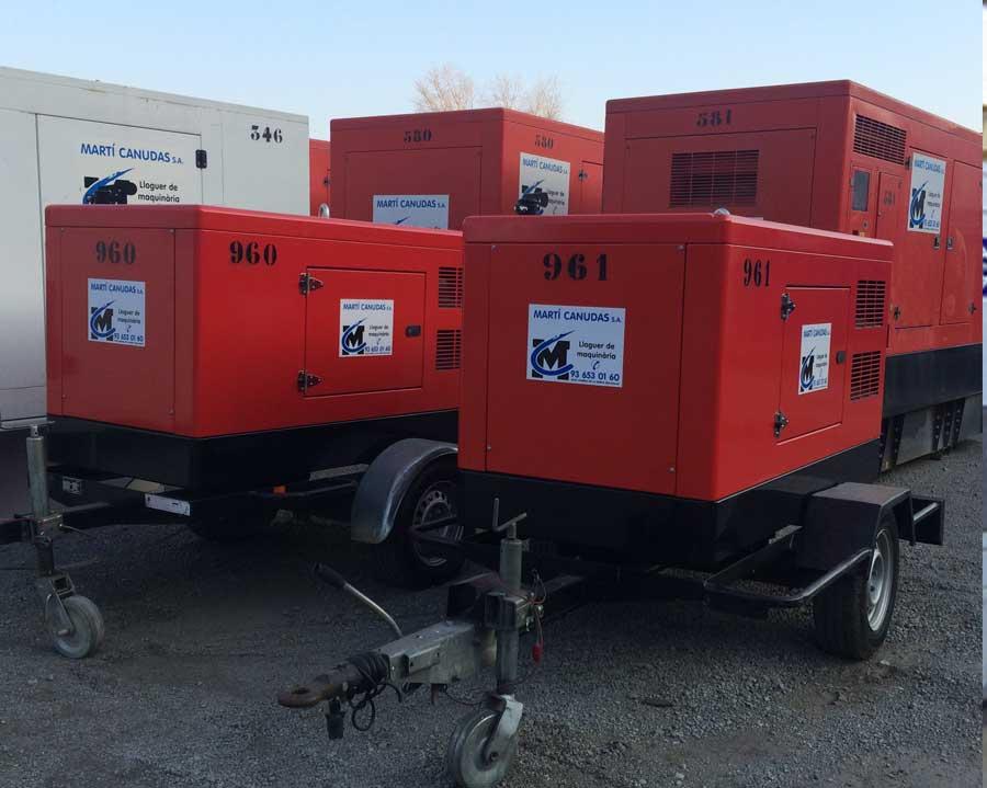 Generadores diésel silenciosos con ruedas