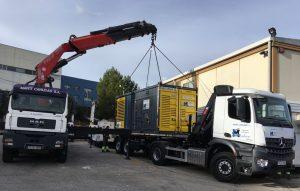 transporte generador diesel silencioso
